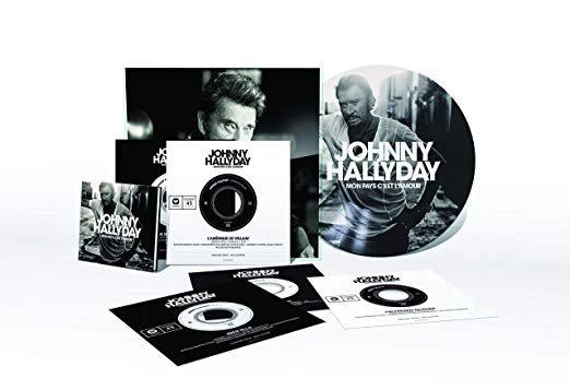 Nouveau coffret de Johnny Hallyday mon pays c'est l'amour sort fin novembre génial pour les fêtes de fin d'année non ?