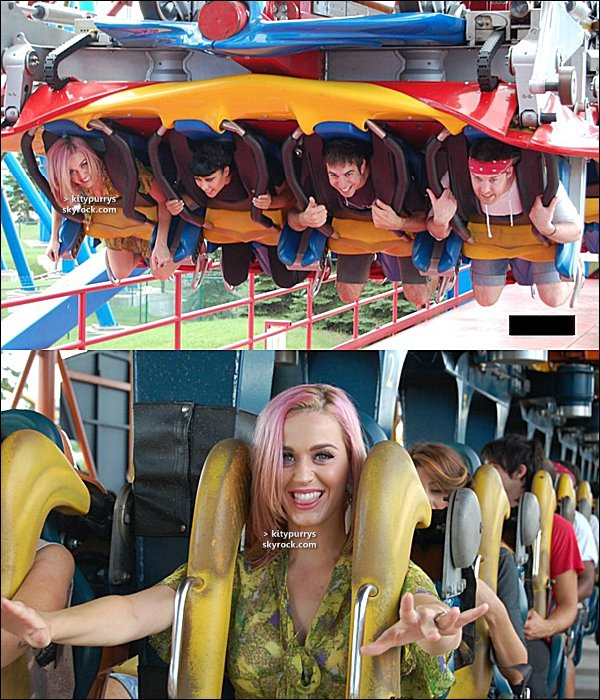 24 Septembre 2010 : Katy avec ses cheveux toujours roses a été vu dans une station essence, à Los Angeles.