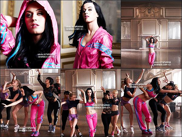 """Photoshoot : Nouvelles photos de Katy de la campagne pour la marque """"Adidas"""""""