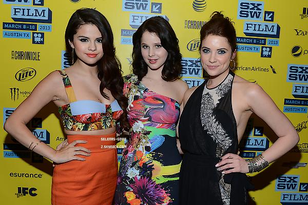 10 MARS 2013 : Selena était présente à la première de Spring Breakers au SXWS Film Festival au Texas