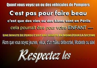 Le respect.... Chacun son métier!!!!