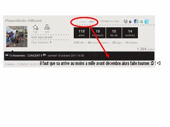 FAITES TOURNER LE BLOG AFINS QUE NOUS ARRIVIONS A 1000 J'AIMES :D !