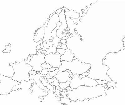 carte europe de l'est vierge