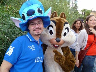 moi et les personnages de Disney