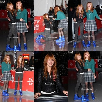 Bella et sa soeur Kaili à al première de Disney on Ice Dare to Dream ! 13/12