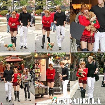 Bella, Tristan, Dani, Tamara et le petit ami de Dani faisaient du shopping pour Noël !