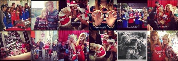 Bella, sa famille et celle de Tristan était à LA Mission (24.12.2012)