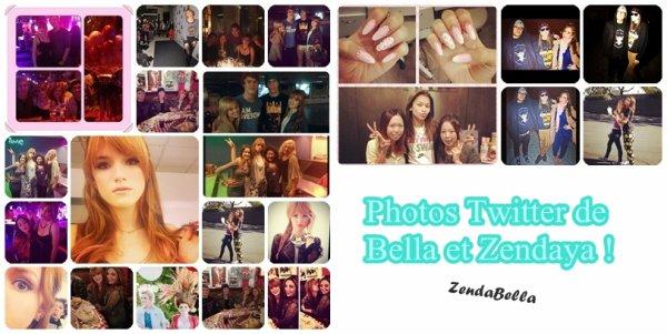 Photos Twitter de Zendaya et Bella que je n'ai pas eu le temps de posté !