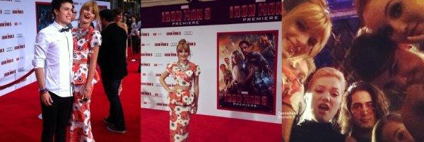 """Bella était à la première de """"Iron Man 3"""""""