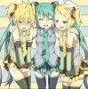 Woah, il n'y a que des filles, hein Len-chan~ ? ˏ₍•ɞ•₎ˎ