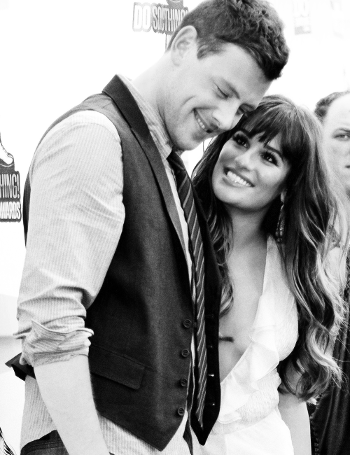 """I don't even remember a time when he wasn't my boyfriend. No one knows me better than Cory. No one knows what it's been like to go through this more than he does. Feeling like you have that net underneath you allows you to jump higher and go farther. He makes me feel like I can do anything. For the first time in my life, I feel really, really settled and happy. I feel like the luckiest girl in the world.""  - Lea Michele."