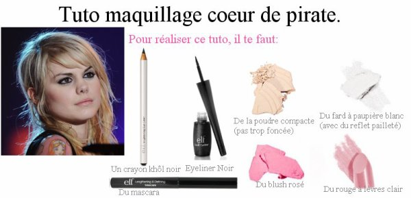 Copie la! Maquillage de coeur de pirate