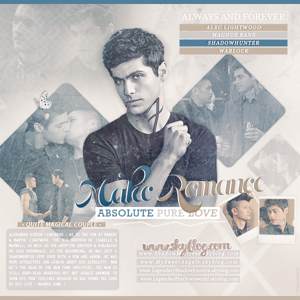MY SWEET ANGELS : MALEC ❤