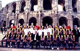 Photo devant les arenes d'Arles (cliquez pour zoomer)