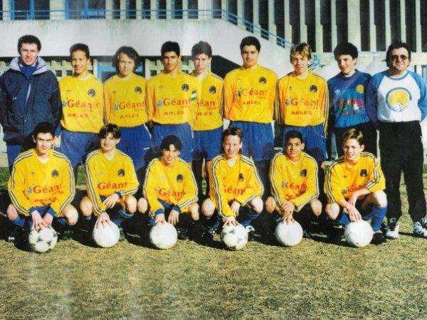 """Encore une photo mythique qui a 20 ans, avec deux autres figures du club """"Gazzou et Panpan"""" :)"""