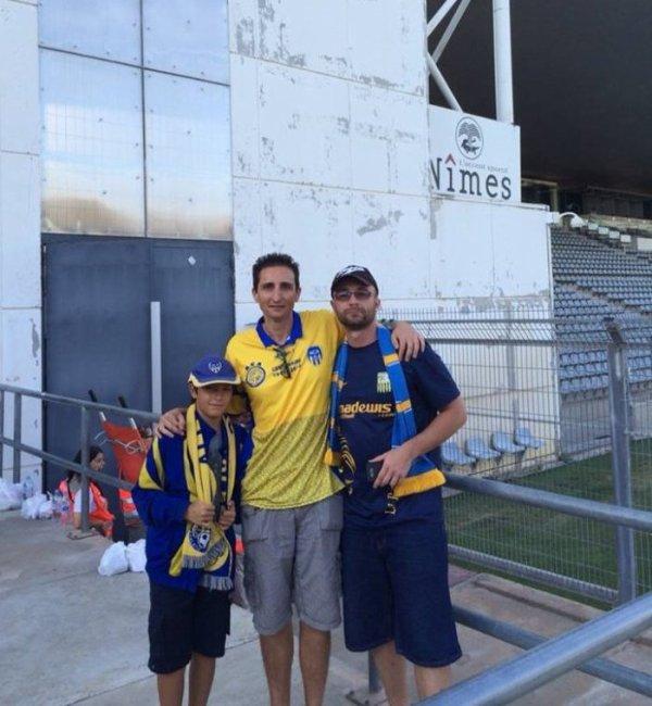 Avec Dèdè et son fils pour le dep a Nimes (saison 2014/2015).