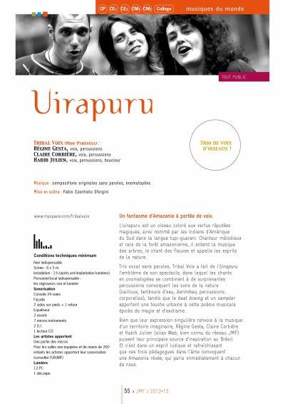 Tribal Voix dans le catalogue JMF 2012-2013, Youpi !!