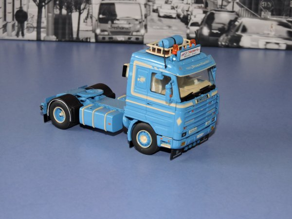 Tekno 1/50 scania 143 et topline JP TRACTION