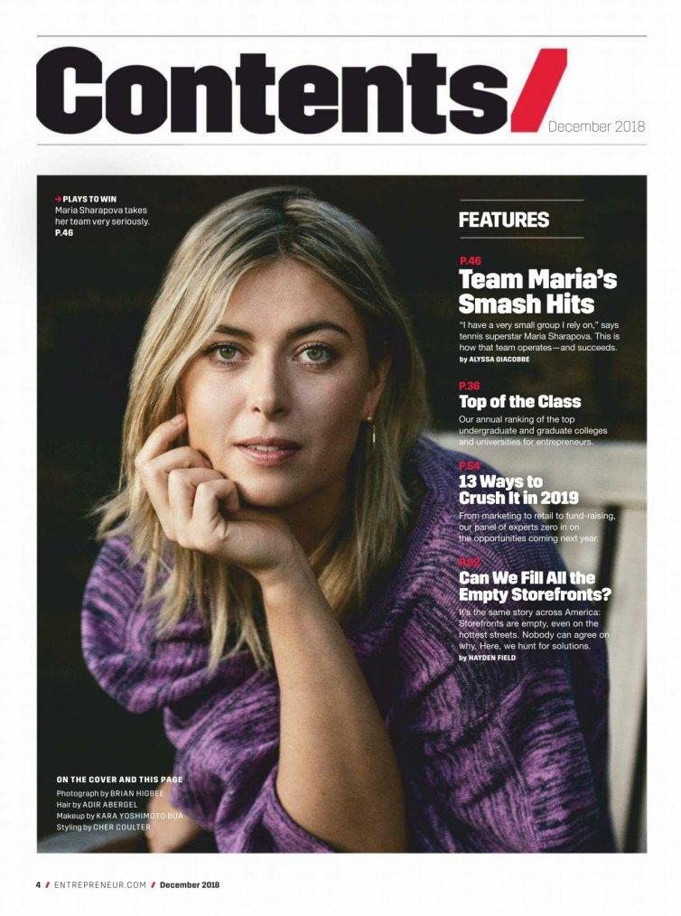 magazine Contents 2018