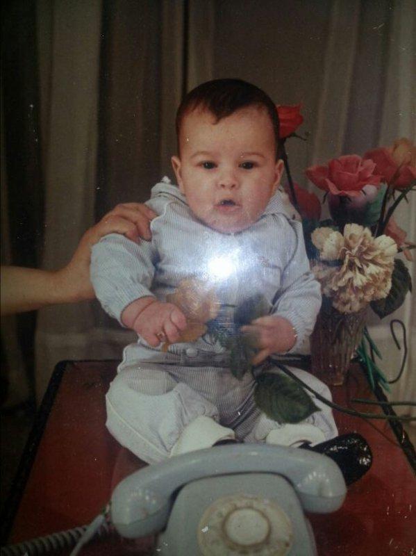 Moi a l'age de 5 moi et 15 jours :-)