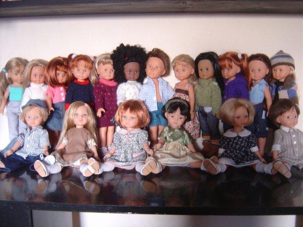 La collection de poupées