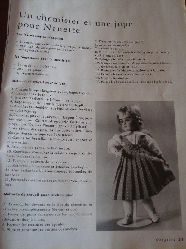 Un chemisier et une jupe pour Nanette