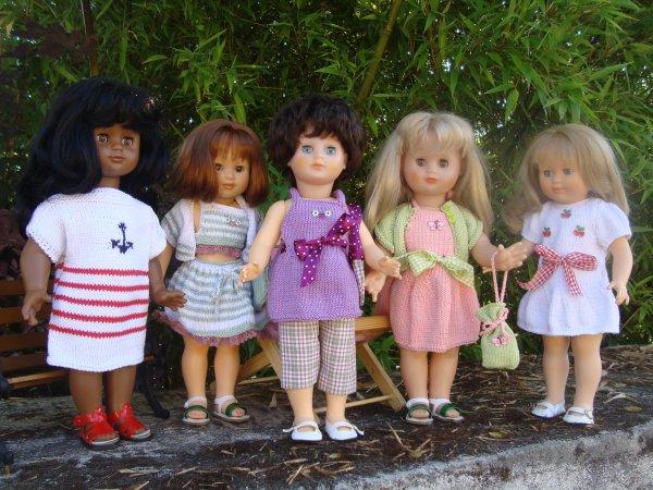 Les tenues d'été des demoiselles Modes & Travaux