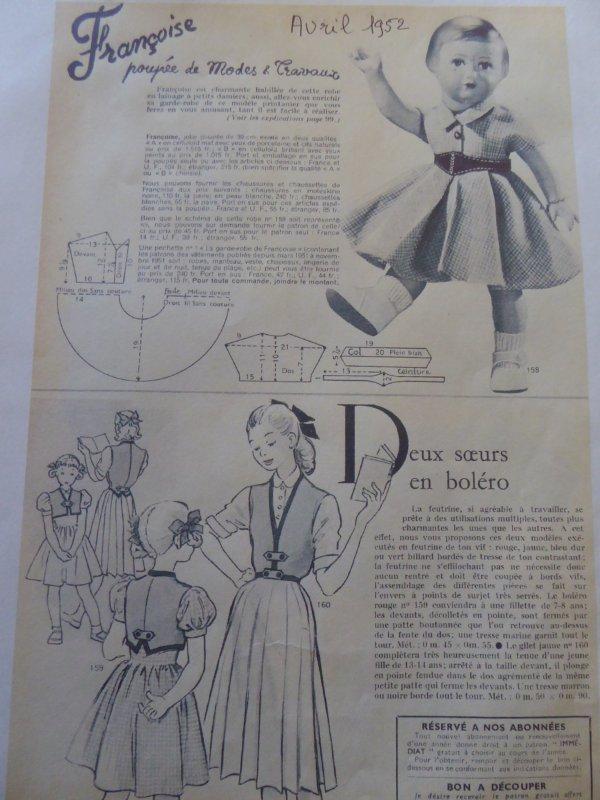 La robe d'Avril 1952