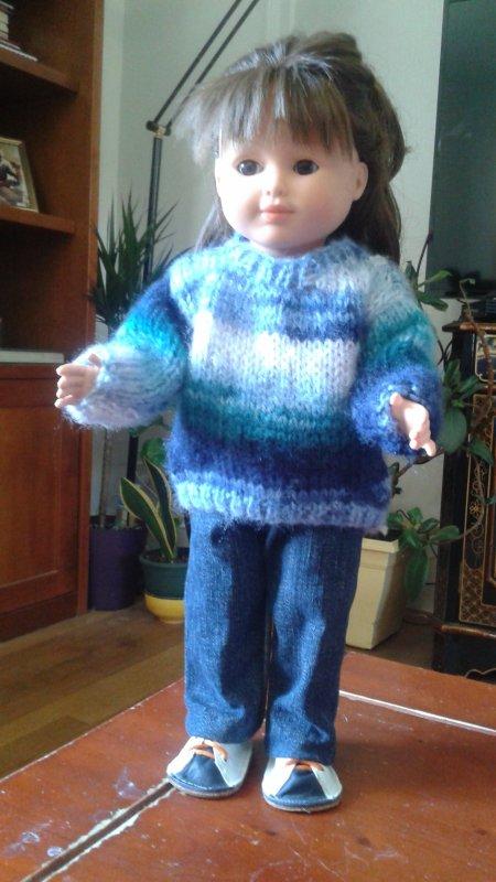 Les pulls des poupées !