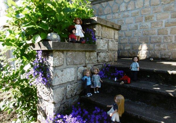 Des escaliers fleuris !