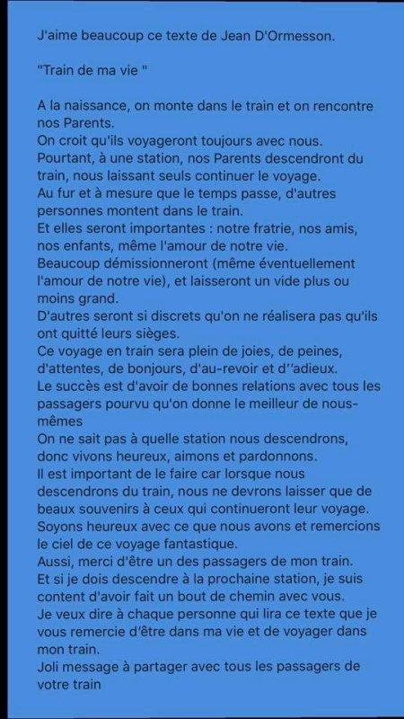 Un texte de Jean d'Ormesson