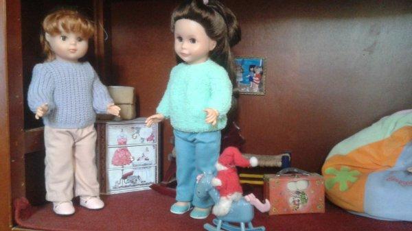 Les pulls de Louise et Elisabeth !