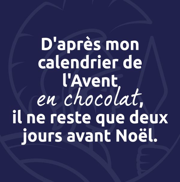 Les calendriers de l'Avent !