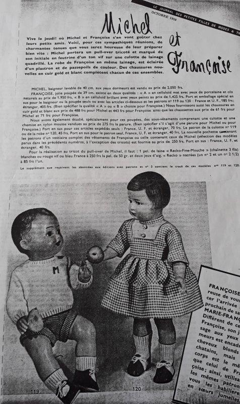 Tenue pour Michel d'Octobre 1958