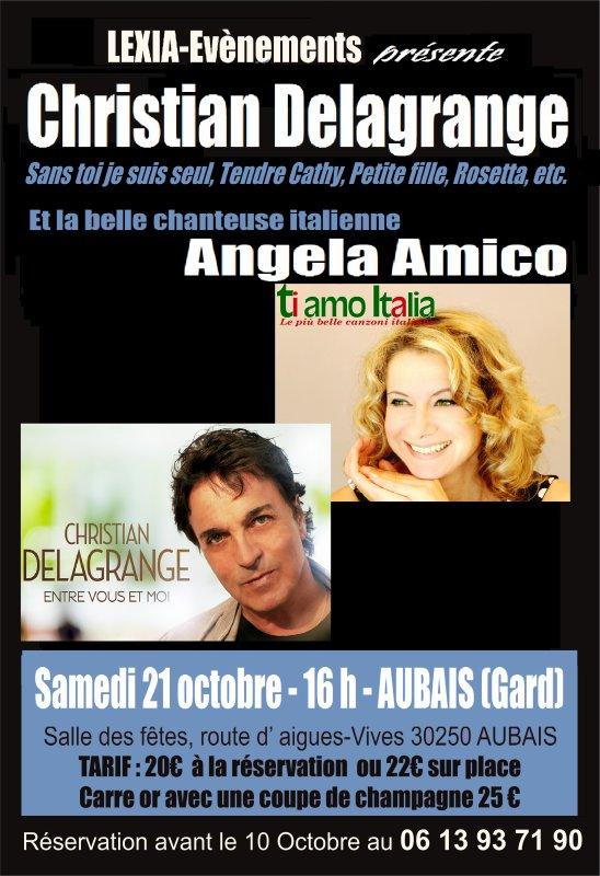 Christian Delagrange et angela Amico en concert 21 octobe 2017