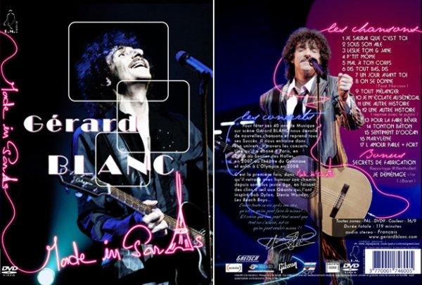 DVD concert de GERARD BLANC:Blanc Made In Paris