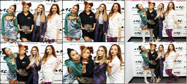 """"""" 14/12/2016 ─ Les Little Mix se sont rendues dans les locaux de la radio « Music Choice » situés dans New-York. Les filles continuent la promotion de leur nouvel album petit à petit. Concernant le tenue de Perrie, j'adhère totalement à son haut gris. Un beau top !  """""""