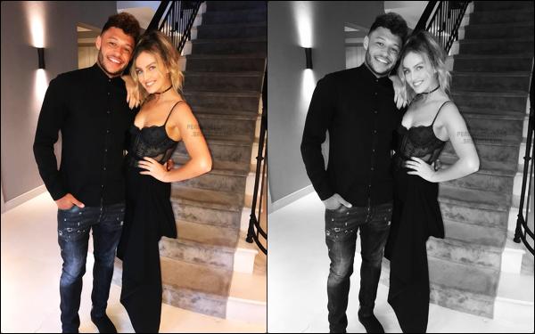 """"""" 16/08/2017 ─ Perrie Edwards fêtait le vingt-quatrième anniversaire de son petit-ami Alex Oxlade Chamberlain ! Je suis absolument fan de ce couple. Je les trouve absolument adorable et Perrie est vraiment heureuse avec Alex ! Sa tenue est un véritable top, j'adore.  """""""