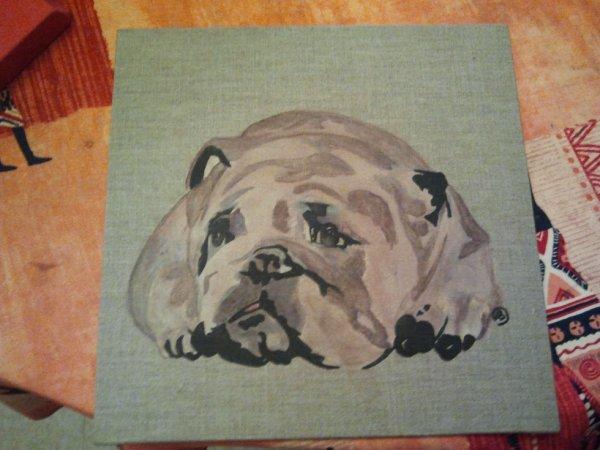 bulldog Acrylique