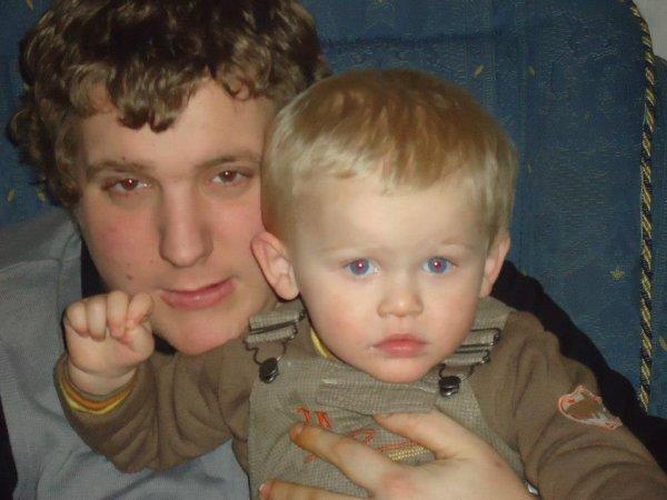 mon fils et son papa