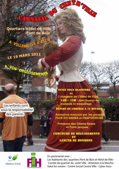 Carnaval à Villeneuve d'Ascq le 19 Mars 2011