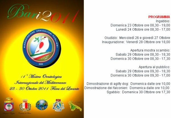 11° MOSTRA INTERNAZ. DEL MEDITERRANEO 2011
