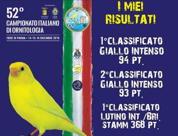 52° CAMPIONATO ITALIANO DI ORNITOLOGIA - PARMA 2018