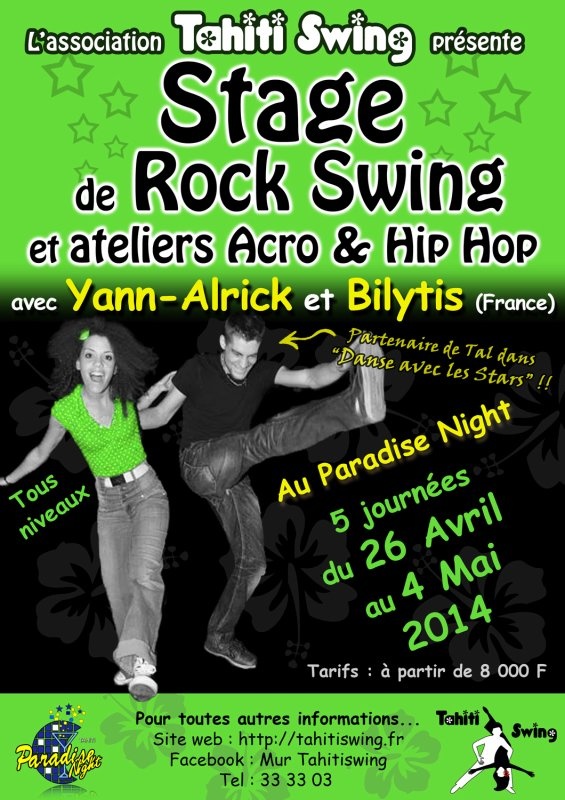 Stage de Rock Swing à Tahiti