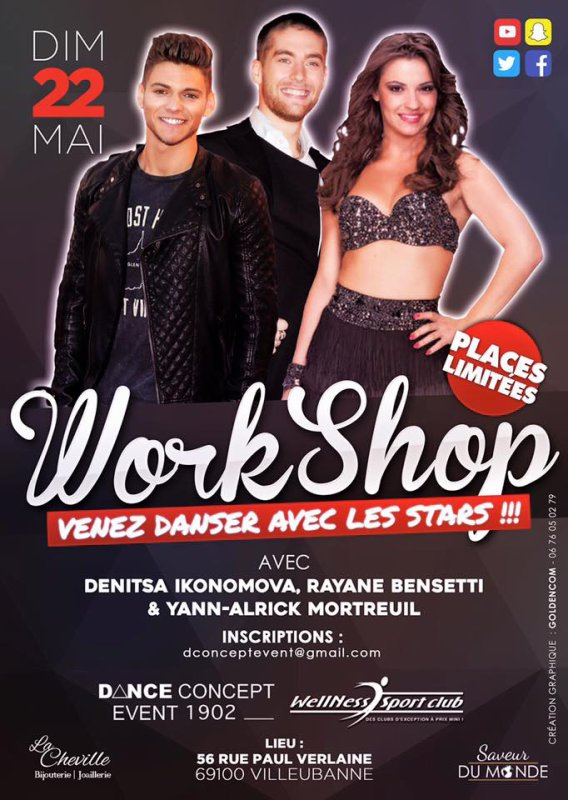Workshop à Lyon avec Denitsa Ikonomova et Rayane Bensetti