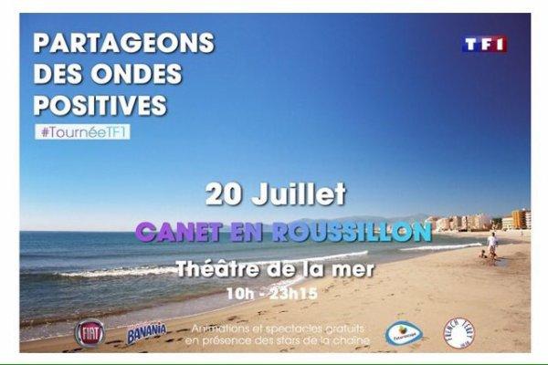 Tournée d'été TF1 à Canet en Roussillon