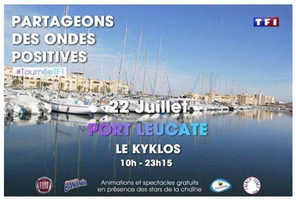 Tournée d'été TF1 à Port Leucate