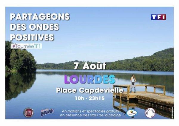 Tournée d'été TF1 à Lourdes