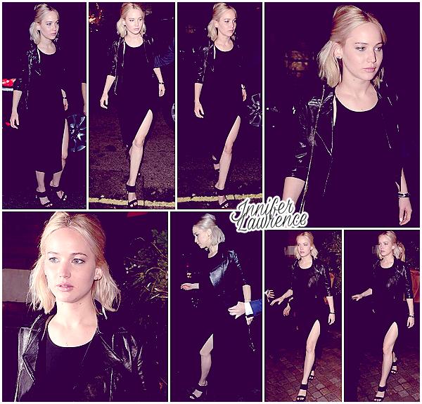 17/12/2015 :  Jennifer s'est rendue au restaurant Chiltern Firehouse à Londres (UK) : Miss Lawrence profite du bon temps dans la capitale anglaise et continue sa tournée de promotion européenne.