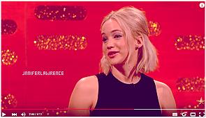 31/12/2015 : Jennifer s'est rendue sur le plateau de l'émission The Graham Norton Show (UK) : L'émission a été enregistré il y a quelques jours et sera diffusé le 31 décembre au soir. La belle était accompagnée de Eddie Redmayne.